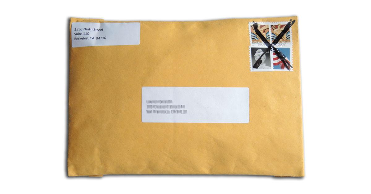 CAP condom envelope